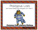 Plaidypus Lost Reading Street Unit 1 Week 3 Common Core Literacy Stations