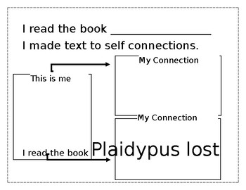 Plaidypus text to self connection