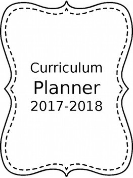 Plain B&W Curriculum Planner *Editable*