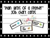 Plain Birds of a Feather Job Chart Cards