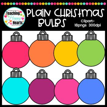 Plain Christmas Bulbs Clipart
