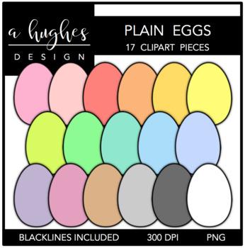 Plain Eggs Clipart {A Hughes Design}