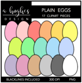 Plain Eggs Clipart {A Hughes Design}