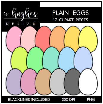 Plain Eggs {Graphics for Commercial Use}