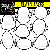 Plain Face Templates {Creative Clips Clipart}