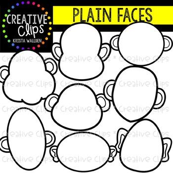 Plain Face Templates {Creative Clips Clipart}