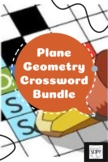 Geometry Crossword Bundle - Circles, Polygons, Angles & Geometry Vocabulary