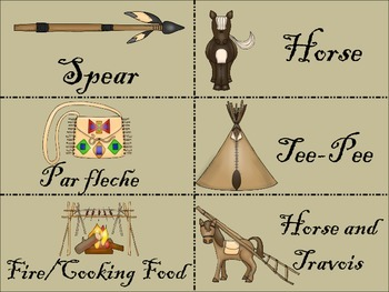 Plain Indians Picture and Word Cards