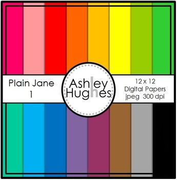 FREE 12x12 Digital Paper Set: Plain Jane 1 {A Hughes Design}