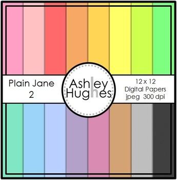 FREE 12x12 Digital Paper Set: Plain Jane 2 {A Hughes Design}