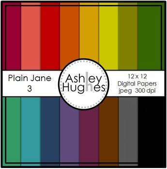 FREE 12x12 Digital Paper Set: Plain Jane 3 {A Hughes Design}