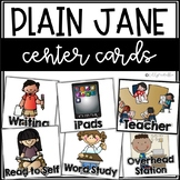 Plain Jane Center Cards