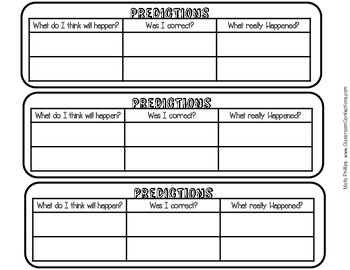 Reading Graphic Organizers for Reading Interactive Notebooks