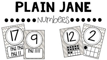 Plain Jane Number Posters (Primary)