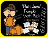 Plain Jane Pumpkin Math Pack