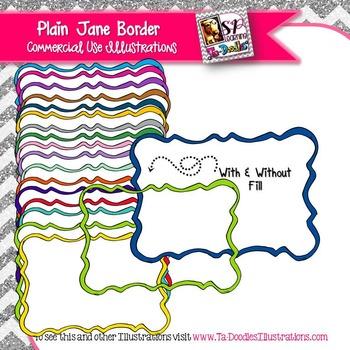 Plain Jane Rectangle Frame Clip Art