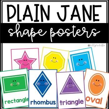 Plain Jane Shape Posters