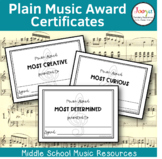 Plain Music Award Certificates