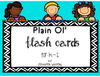 Plain Ol' Flash Cards for K-2