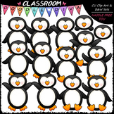 Plain Penguins - Clip Art & B&W Set