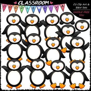 Plain Penguins Clip Art
