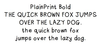 Plain Print Bold: Font for Personal + Commercial Use