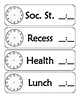 Plain Schedule Cards