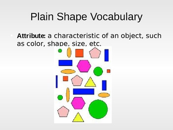 Plain Shapes Power Point with Vocabulary