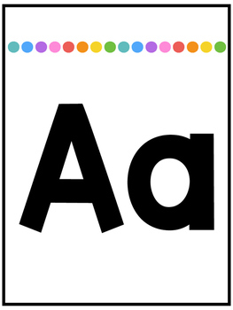 Basic Brights Alphabet Posters