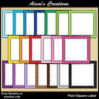 Plain Square Labels Clip Art