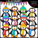 Plain Winter Penguins Clip Art - Winter Clip Art & B&W Set