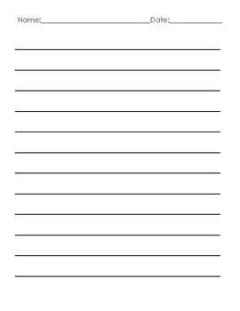 Plain Writing Paper- Vertical