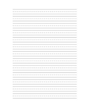 Plain Writing Paper with Picture Box