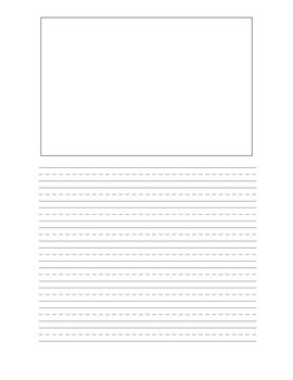 primary writing paper with picture box pdf