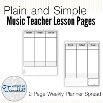 Plain and Simple Lesson Pages