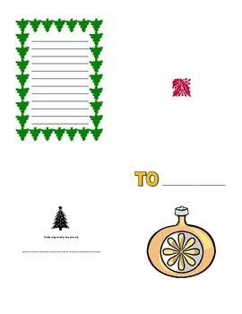 Holiday card to print, fold and fill-in