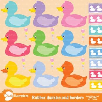 Duck clipart, Plain little rubber duckies clipart AMB-433
