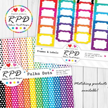 Plain rainbow colours digital paper set/ backgrounds