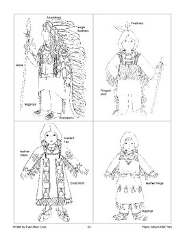 Plains Indian Dress-up Forms