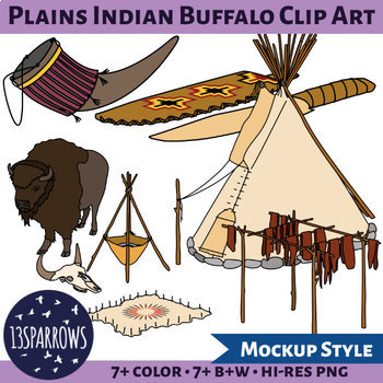 Plains Indians Buffalo Clip Art