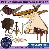 Plains Indians Buffalo Clip Art