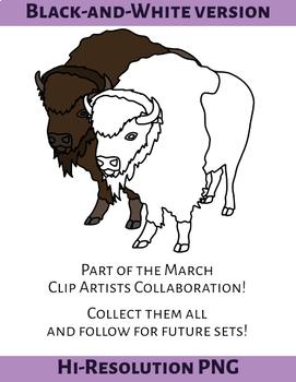 American Buffalo Clip Art
