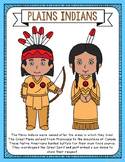 Plains Indians Coloring Page Craft and Poster, Native American Tribes