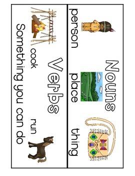 Plains Indians, Native Americans, Fall, Thanksgiving Noun and Verb Sort