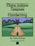 Plains Indians Teepee - Handwriting w/o Tears, D'Nealian &