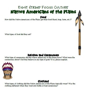 Plains Native American Research Project