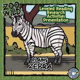 Zebra - 15 Zoo Wild Resources - Leveled Reading, Slides & Activities