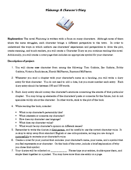 Plainsong diary activity with grading guide