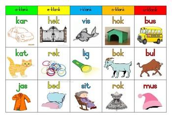 Plakkaat Afrikaans klinkers