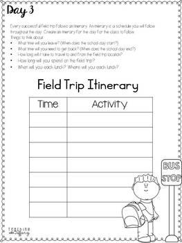 Plan A Class Field Trip Mini Project (Grades 4-6)